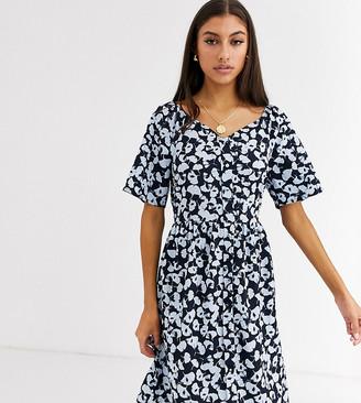 Vero Moda Tall floral square neck dress