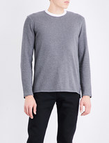 Levi's Levis Made & Crafted Dropped-hem cotton sweatshirt