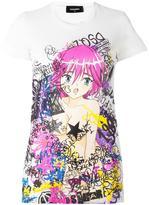 DSQUARED2 'Manga Punk Gang' T-shirt - women - Cotton - XS