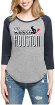 '47 Women's Houston Texans Club Block Raglan T-Shirt