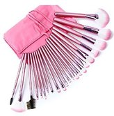 Kisstyle Professional Cosmetic Makeup Brush Set Kit with Synthetic Leather Case 22 Pcs Pink by Kisstyle