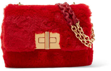 Tom Ford Natalia Faux Fur Shoulder Bag - Red