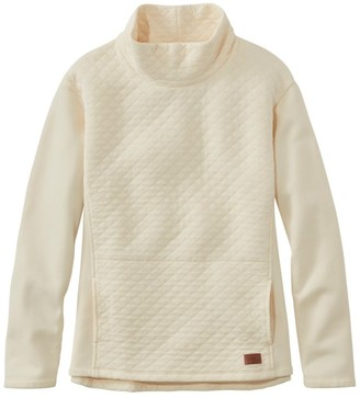 L.L. Bean Women's Quilted Sweatshirt Pullover, Funnelneck