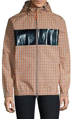 Helmut Lang Plaid Hooded Jacket