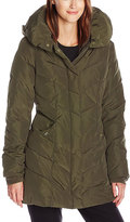 Steve Madden Olive Quilted Coat - Plus