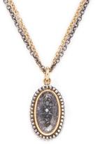 Moritz Glik Women's 18K Yellow Gold, Silver & 0.70 Total Ct. Black Diamond Pendant Necklace
