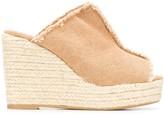 Castaner Fatima frayed wedge sandals