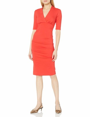 Nicole Miller Women's Solid Ponte Dress