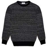Soulland Ricketts Grey Honeycomb Crew Sweater