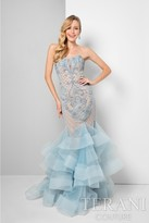 Terani Prom - Sweetheart Lace Applique Mermaid Prom Gown 1711P2595