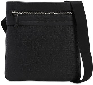 Salvatore Ferragamo Logo Embossed Leather Cross Body