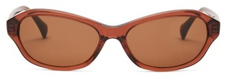 Sun Buddies Wesley Round Acetate Sunglasses - Burgundy