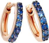 Astley Clarke Mini Halo 14ct rose-gold blue sapphire hoop earrings