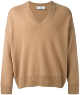 Ami Alexandre Mattiussi Oversized V Neck Sweater