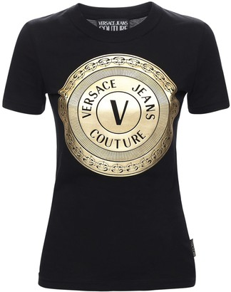 Versace Jeans Couture Logo Cotton Jersey T-shirt