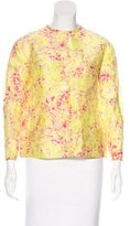 Carven Linen Printed Top