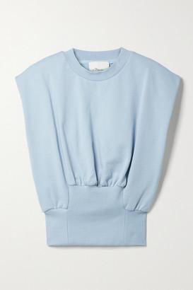 3.1 Phillip Lim - Gathered Cotton-jersey Tank - Sky blue