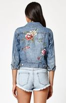 Billabong Floral Crush Embroidered Denim Jacket