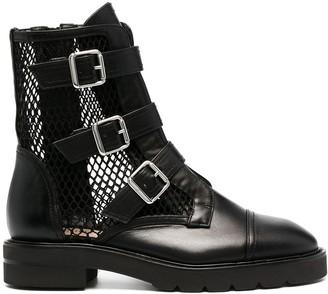 Stuart Weitzman Zip-Up Leather Boots
