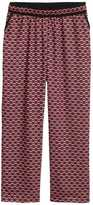 H&M H&M+ Wide-leg Pants - Black/patterned - Ladies
