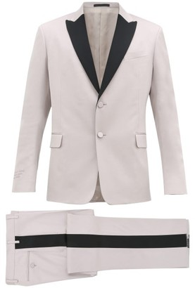 Valentino Single-breasted Wool-blend Crepe Suit - Mens - Black Pink