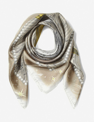 Aspinal of London Pegasus Constellation silk scarf 90cm x 90cm