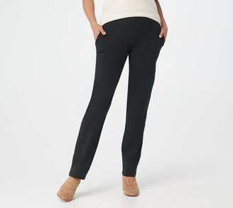 Women With Control Regular City Slim-Leg Pull-On Pants with Pockets
