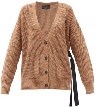 Rochas Side-ties Cable-knit Cardigan - Light Brown