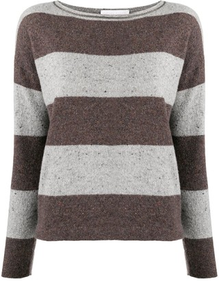 Fabiana Filippi Striped Long-Sleeve Jumper