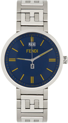 Fendi Silver and Blue Forever Watch