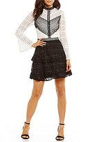 Gianni Bini Liv Lace Mockneck Dress