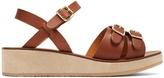 A.P.C. Paula flatform leather sandals