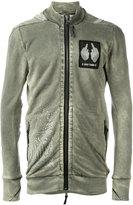 11 By Boris Bidjan Saberi distressed patch sweatshirt