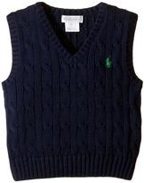 Ralph Lauren Cotton Cable Sweater Vest Boy's Sweater