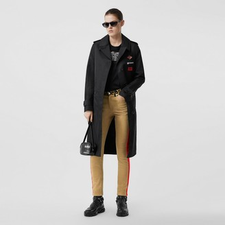 Burberry Skinny Fit Leopard Print Trim Japanese Denim Jeans