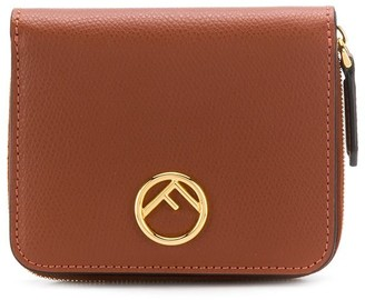 Fendi Pebbled Leather Logo Wallet