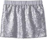 Joe Fresh Kid Girls' Sequin Skirt, Silver (Size XL)
