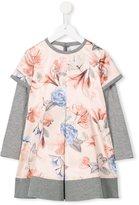 Loredana floral layer jersey dress