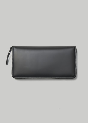 Comme des Garcons Women's Very Black Leather Line Large Zip Around Wallet