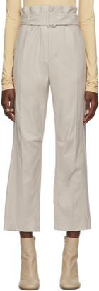 MM6 MAISON MARGIELA Beige Belted Trousers
