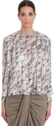 Isabel Marant Midway Blouse In Beige Viscose
