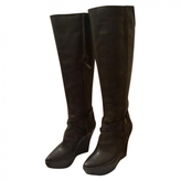 Givenchy Anthracite Leather Boots