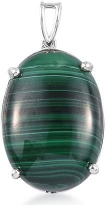 Shop Lc 925 Sterling Silver Malachite Pendant Ct 29.3