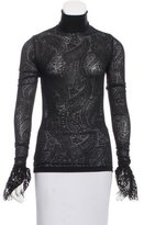 Andrew Gn Lace Long Sleeve Top