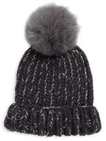 Eugenia Kim Rain Fox Fur Pom Hat