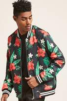 21men 21 MEN Tropical Floral Bomber Jacket