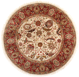 F.J. Kashanian Agra Hand-Knotted Round Wool Rug (6'x6')