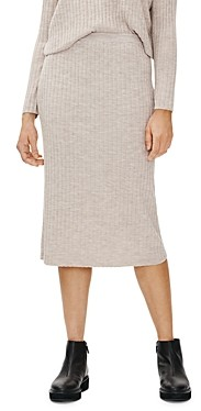 Eileen Fisher Ribbed Wool Pull On Skirt