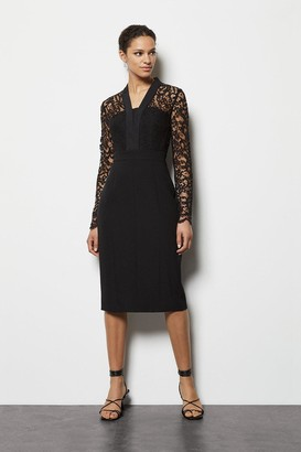 Karen Millen Lace Tailoring Dress