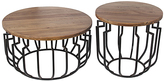 Privilege Round Wood & Metal Accent Tables